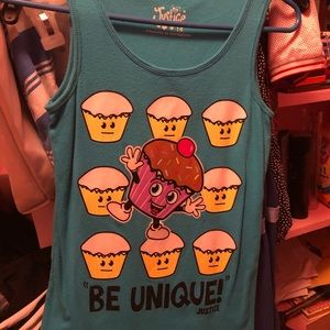 Adorable in like new condition Justice tank top